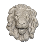 Lion Head 3 - Gray Color - Smooth Texture - web version