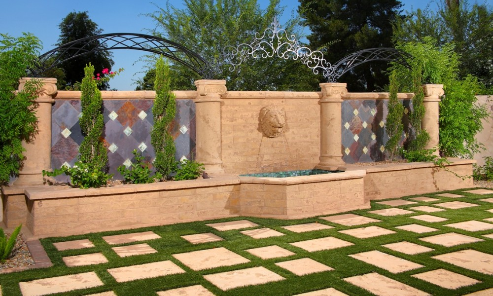 Mesa Precast - Ornamental Element Lion Head 1 - Columns, Pavers | Hardscape Design | Home, Office Decor