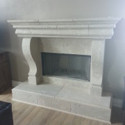 Distressed Look - Custom design Fireplace - corbels, architectural trim
