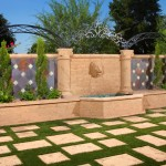 Architectural Precast, GFRC – Matching Color Design Elements | Pavers, Columns, Decorative Elements, Fountain Head, Wall Caps