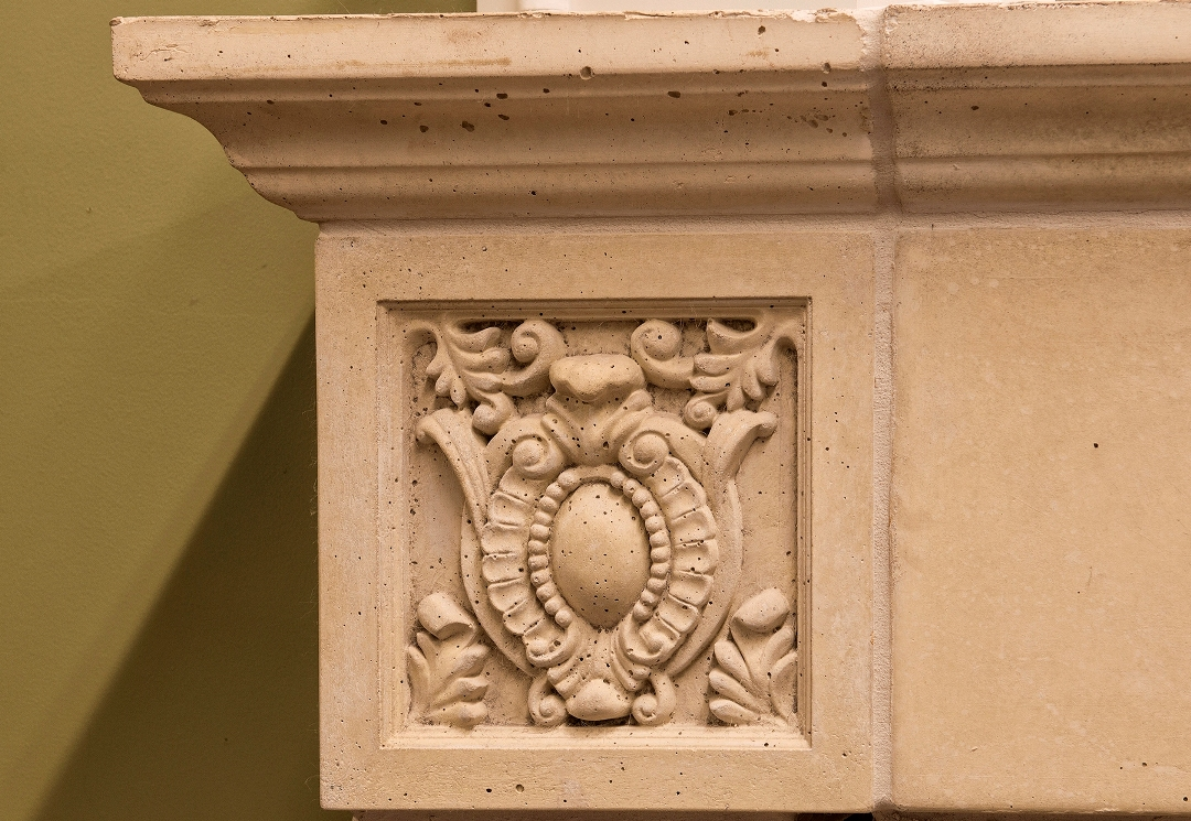 Mesa Precast | Specialty Trim Panels | Ornamentals - Home Decor | Catalog Product: Panel Morgan - 12 | Corner of a Fireplace