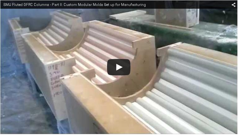 Manufacturing Fluted Gfrc Columns Video Clips Mesa Precast