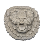 Ornamental Product Ornamental Product Lion Head 1 | Grey Color - Smooth Texture