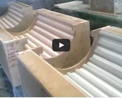 Mesa Precast APA Certified Manufacturing Plant Video-Clips-for-Manufacturing-Process-Fluted-GFRC-Columns