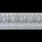Mesa Precast Catalog Product: Architectural Trim - Medium Egg and Dart | Grey Color - Smooth Finish