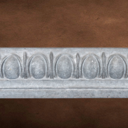 Mesa Precast Catalog Product: Architectural Trim - Medium Egg and Dart | Grey Color - Smooth Finish