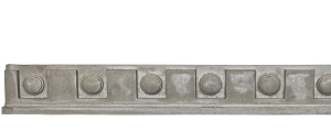 Decorative Trim - Dental Frieze 3 | Gray color - Smooth finish