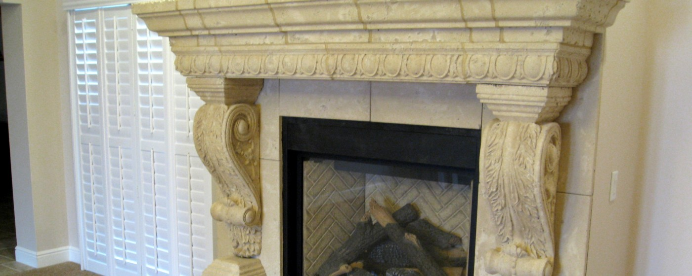 Fireplace design | Egg and Dart Architectural Trim | Graziella corbel