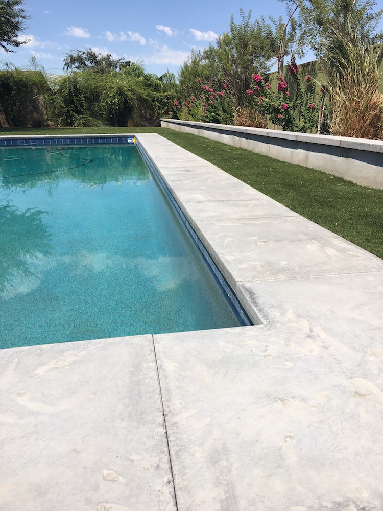 Pool coping, wall coping using architectural precast | Mesa ...