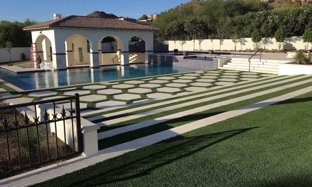 Dark Color Custom Trims Accentuate Design Experience with Pool Coping, Pavers