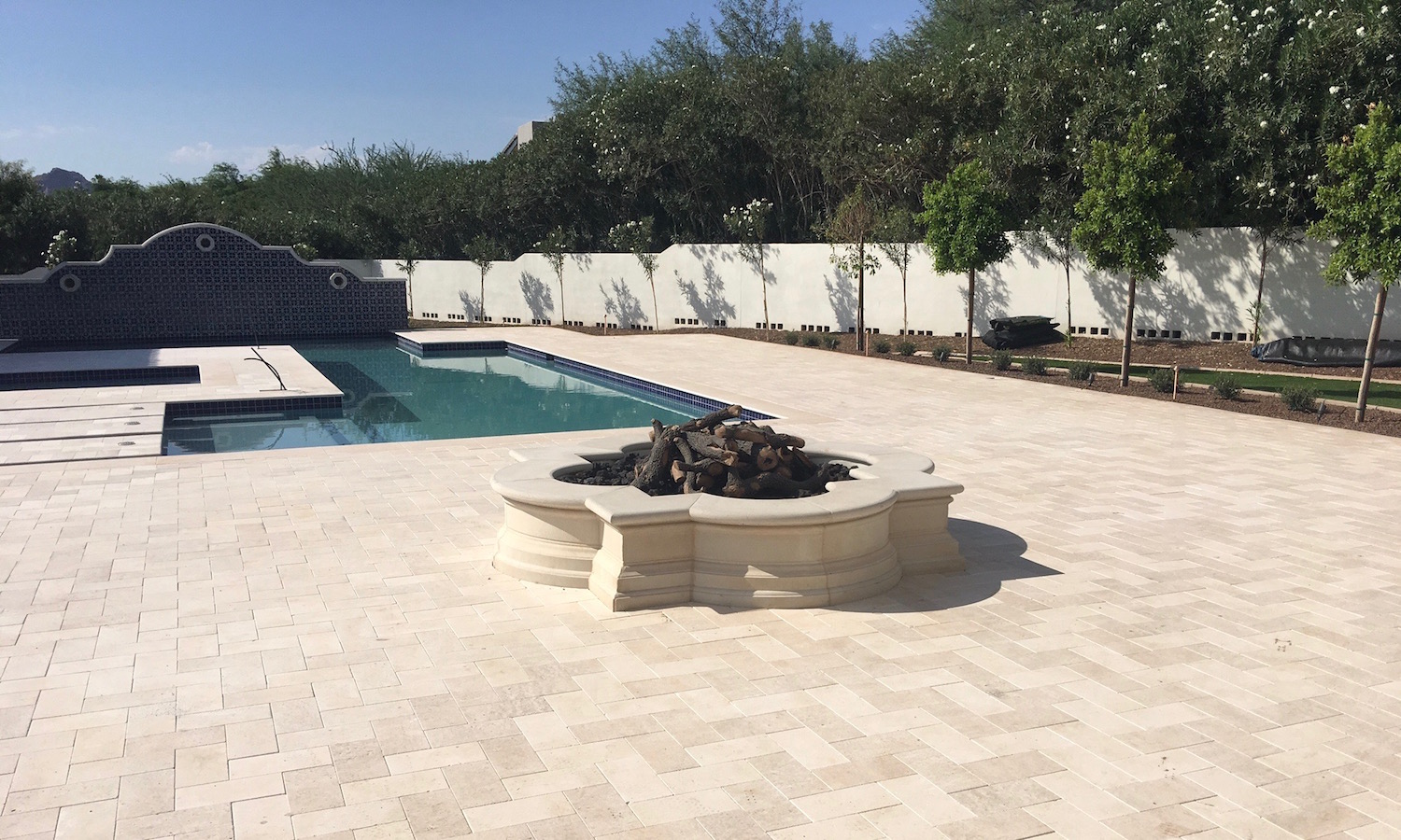 Pavers, Planters, Pool Coping Design with Precise Color Matching