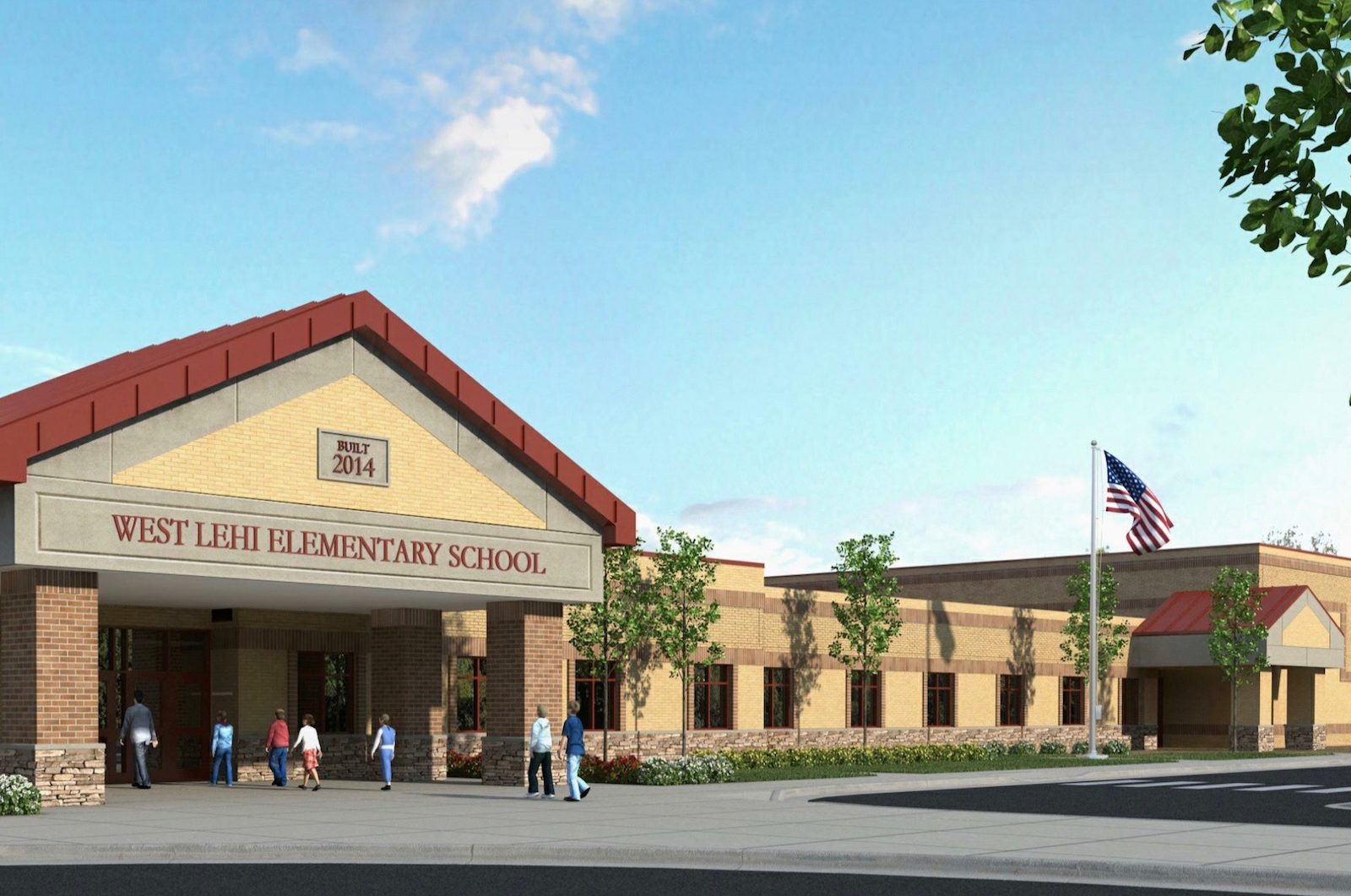 Architects Rendering of Dry Creek Elementary School | Initially name of the school was West Lehi Elementary School