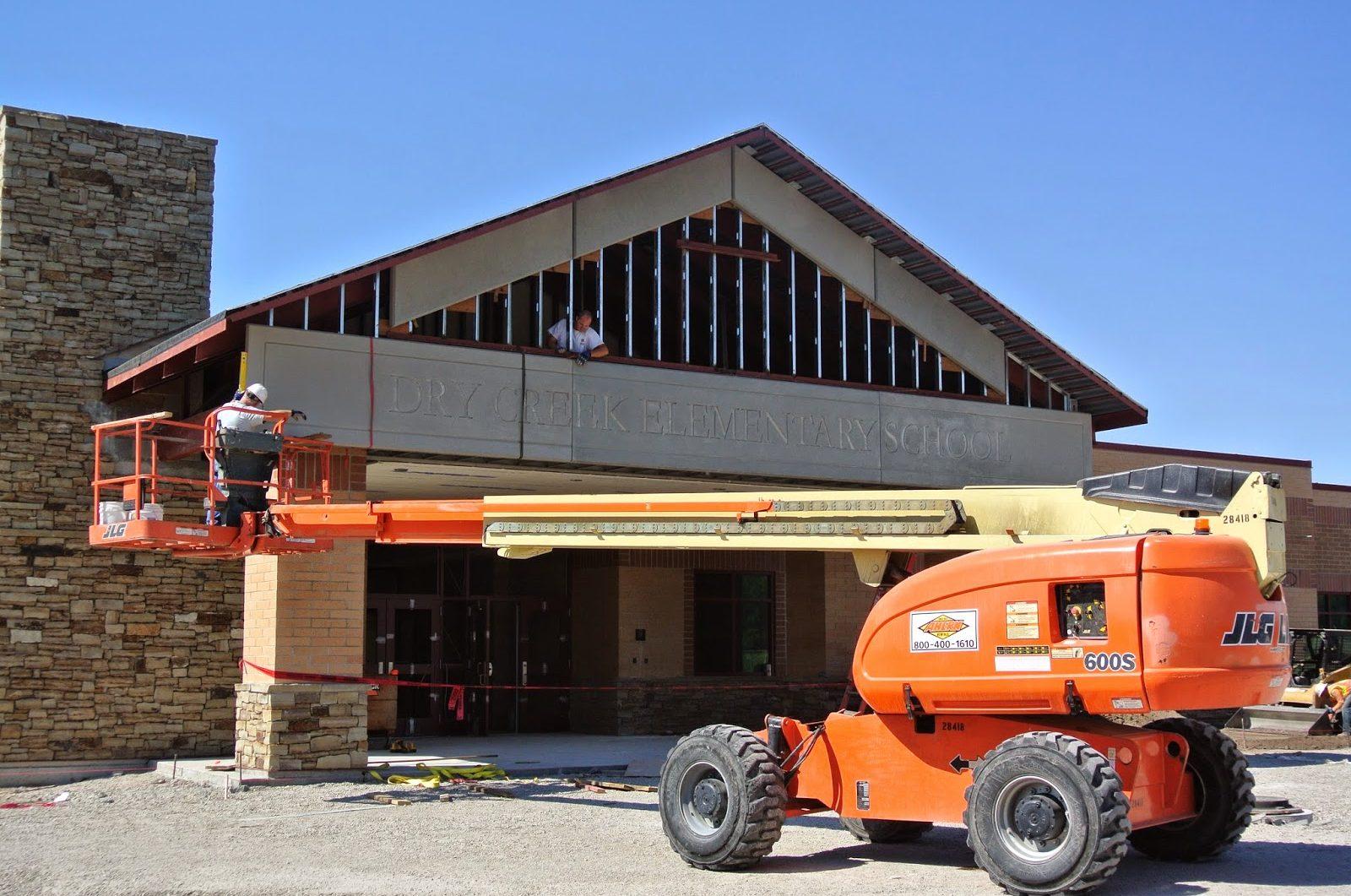 Installation of GFRC Stone Panels   Construction Site: Dry Creek Elementary School, Lehi, UT