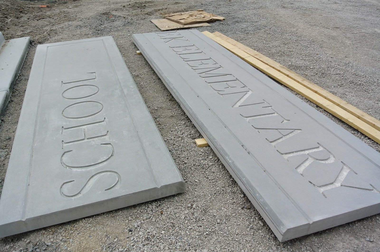 Large Size Custom GFRC Panels with Signage Developed using Custom Molds, Specialized Manufacturing Technique