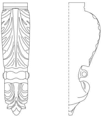 CAD Drawing of Orazio Corbel