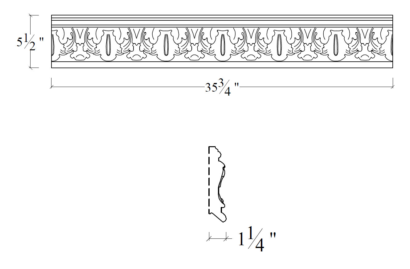 CAD Drawing of CM-6 | Specialty Architectural Trim