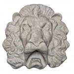 Mesa Precast Ornamental Lion Head 2 | Gray Color - Smooth Finish