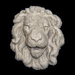 Lion Head 3 - Gray Color - Smooth Texture - web version