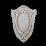 Mesa Precast Ornamental Product - Shield - Grey Color, Smooth Finish - web version