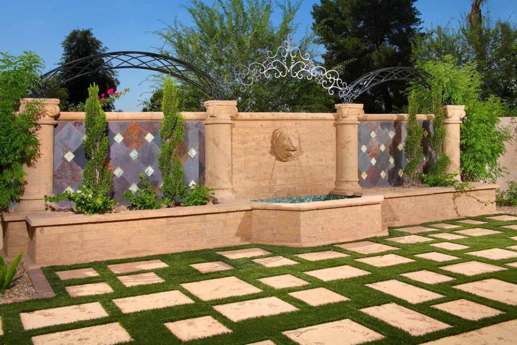 Architectural Precast, GFRC - Matching Color Design Elements | Pavers, Columns, Decorative Elements, Fountain Head, Wall Caps