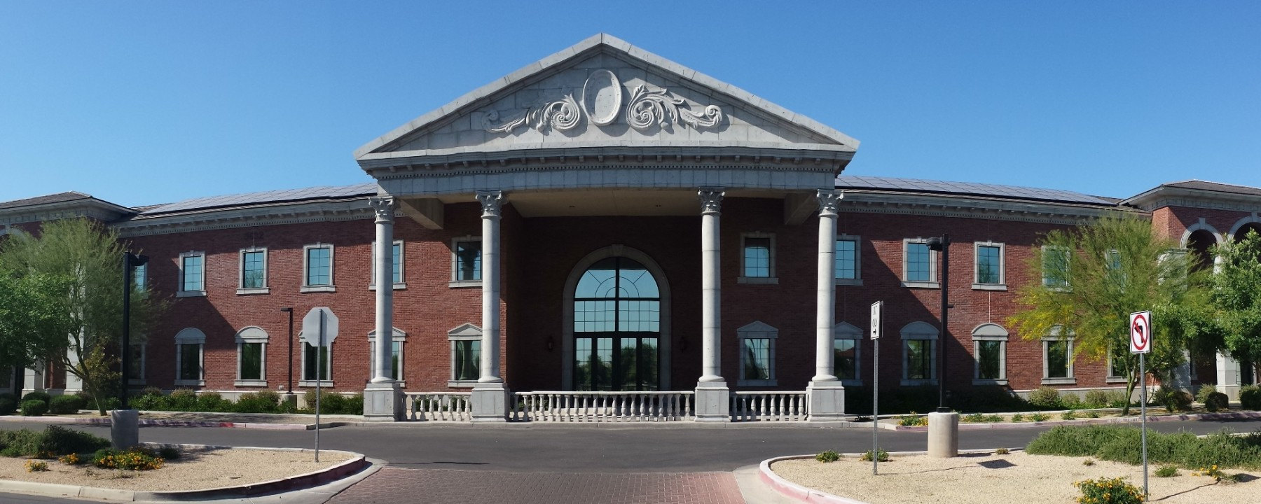 Mesa Precast Project - Gilbert Christian High School | Architectural GFRC | Building Veneer, Columns, Corinthian Capitals, Wainscots, Ornamental Elements