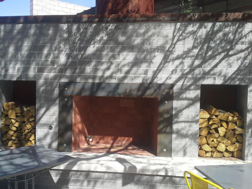Outside Patio Fireplace at Joyride Taco Place | Gilbert, Phoenix, AZ