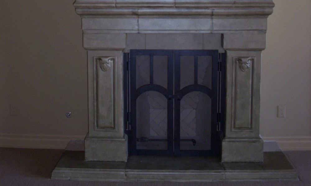 Fireplace | Custom Design | Intergrated Solution using Mesa Precast Catalog Products