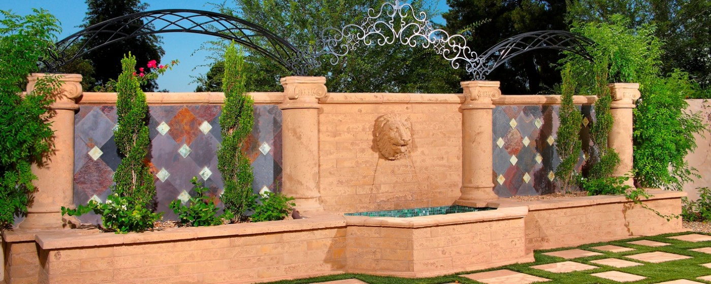 Mesa Precsat Hardscape, Ornamentals Design | Columns, Lion Head 2 Fountain Head