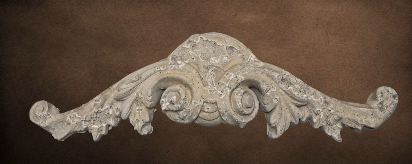 Ornamental Product - Cartouche 1 | Natural Honey Color | Moreno Finish