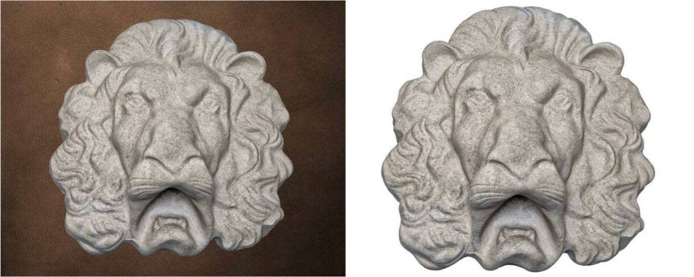 Ornamental Product Lion Head 2 - In this image ... Grey Color, Smooth Finish