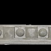 Decorative Trim - Dental Frieze 3   Gray color - Smooth finish