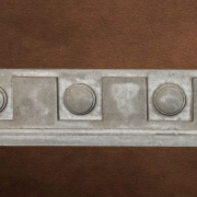 Specialty Decorative Trim - Dental Frieze 3 | Gray color - Smooth Finish