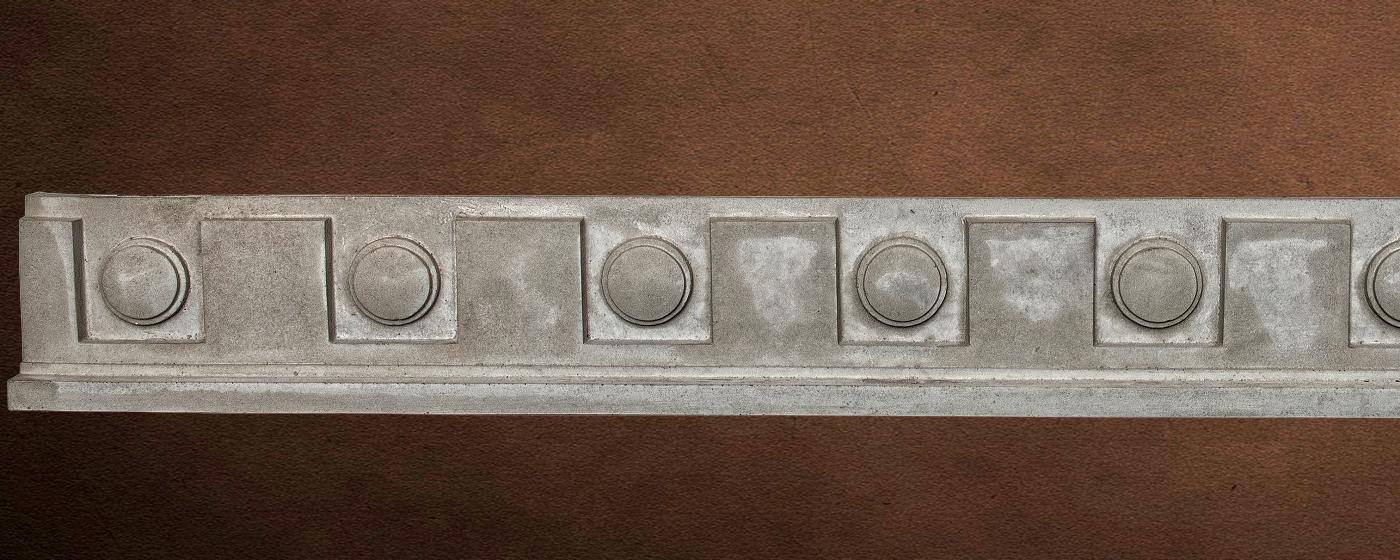 Specialty Decorative Trim - Dental Frieze 3 | Gray color - Smooth Finish