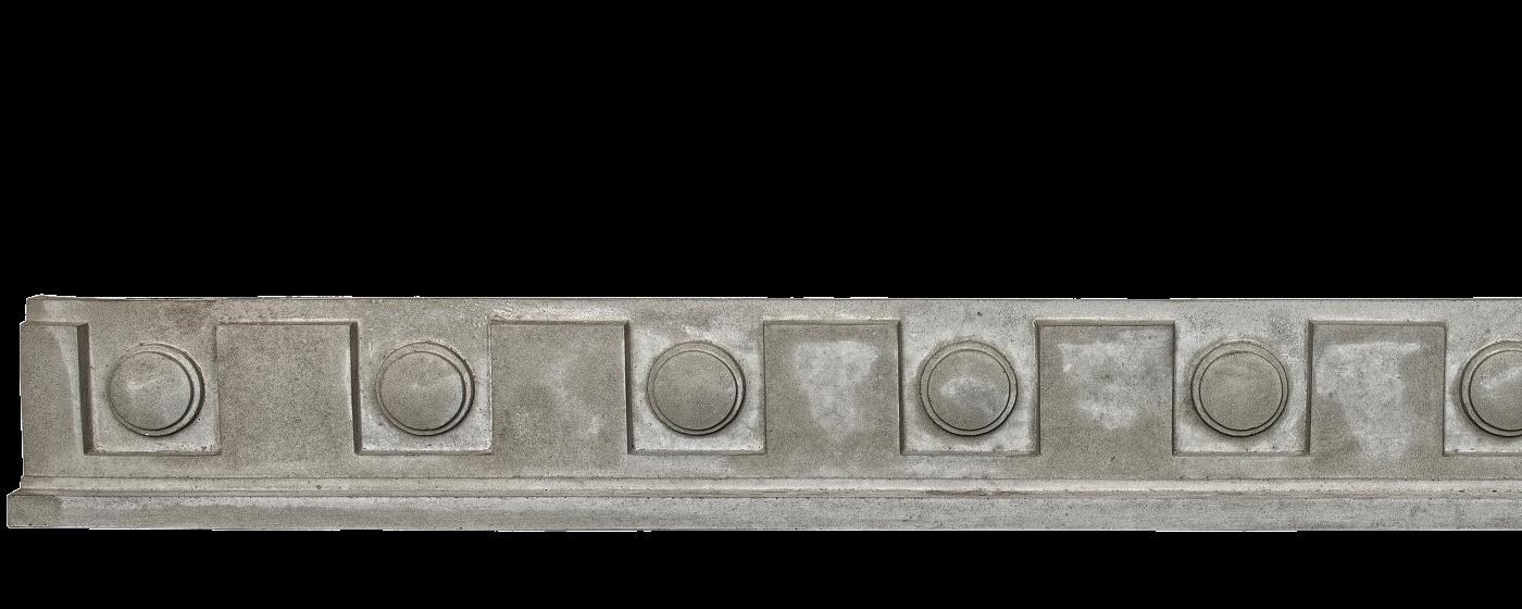 Decorative Trim - Dental Frieze 3 | Gray color - Smooth finish