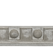 Specialty Decorative Trim - Dental Frieze 3 | In This Example, Gray color - Smooth Finish