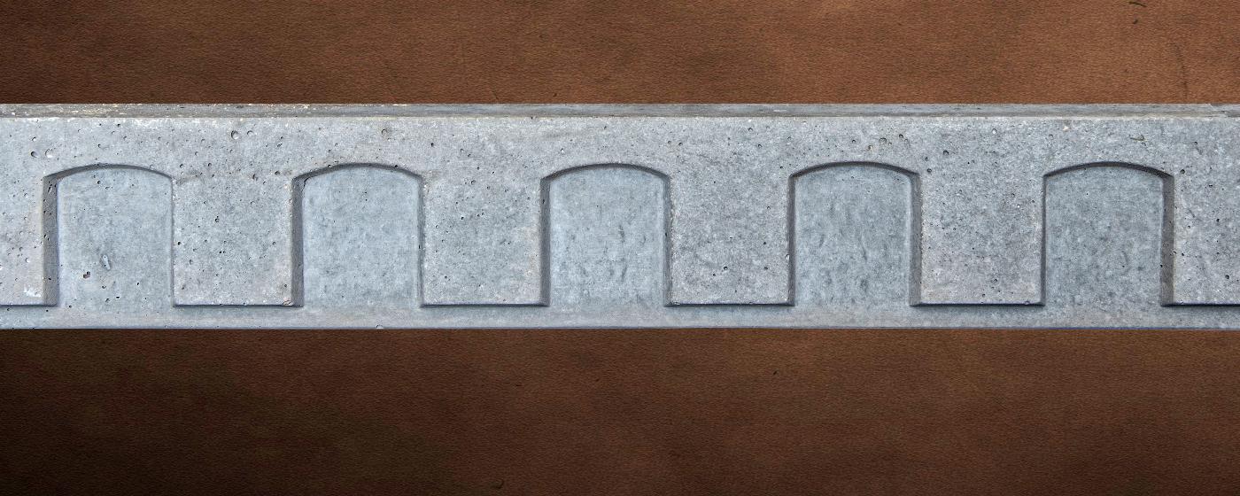 Mesa Precast Catalog Product - Decorative Trim - Dentil Frieze 4 | Gray Color - Smooth Finish