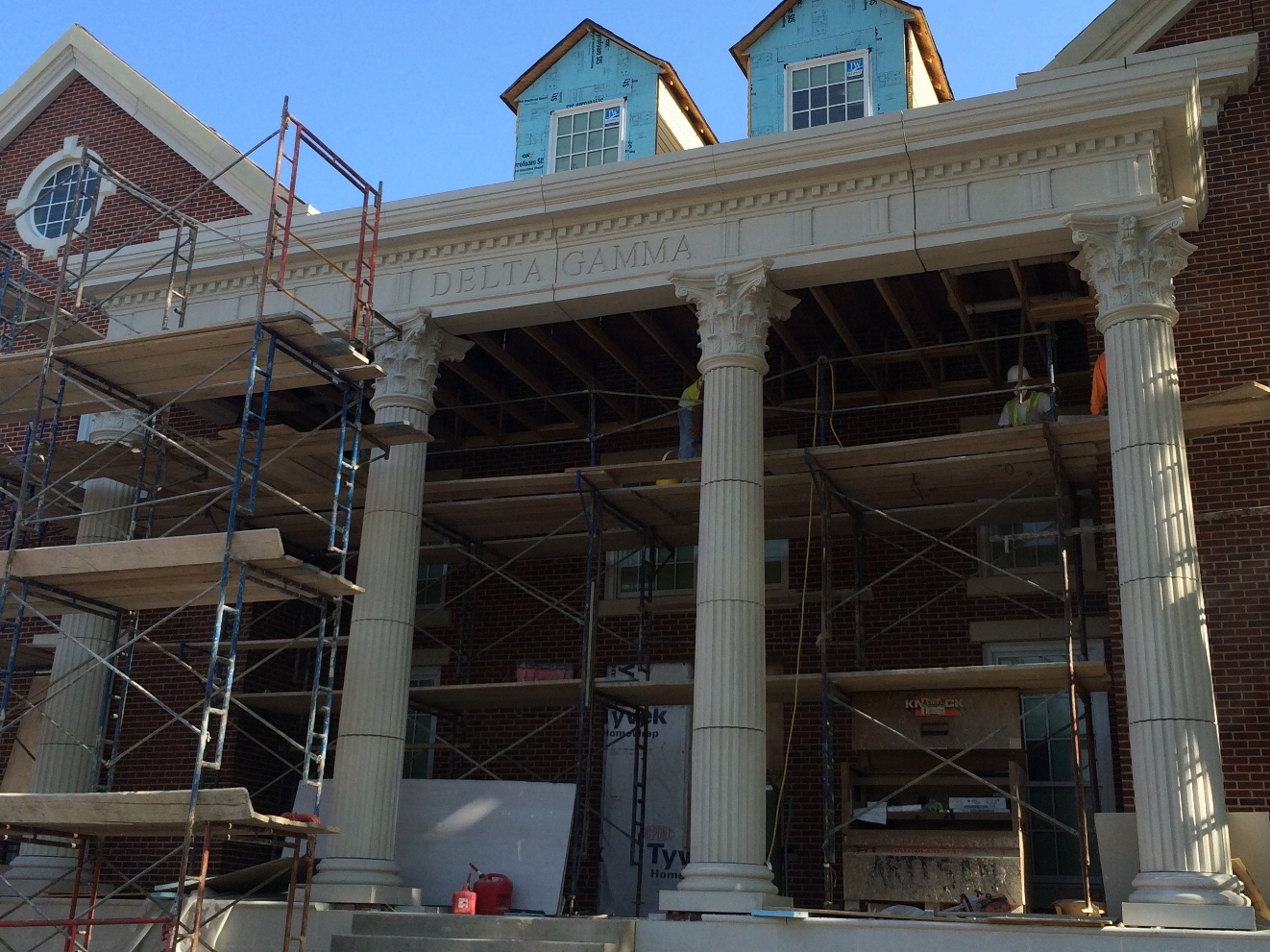GFRC Fulted Columns, Corinthian Capitals - SMU Delta Gamma Sorority House