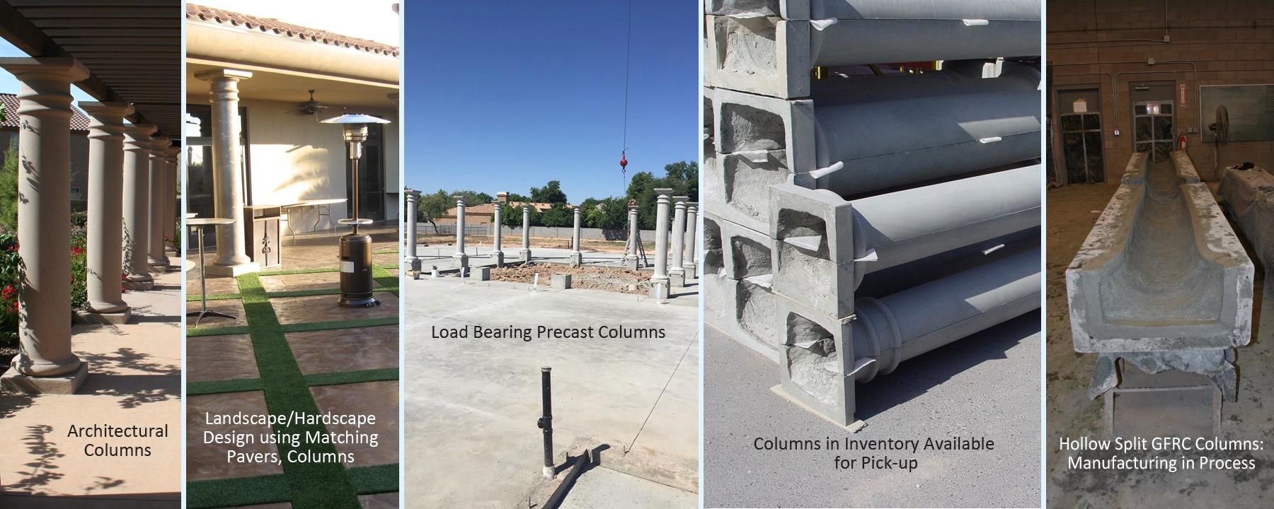 Mesa Precast Architectural Columns - Precast, GFRC