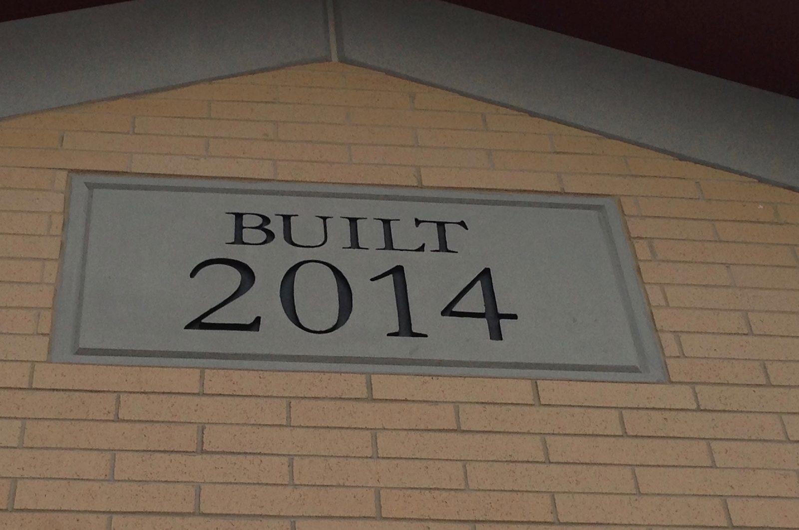 Stone Sign using GFRC | Dry Creek Elementary School, Lehi, Utah | Built in 2014