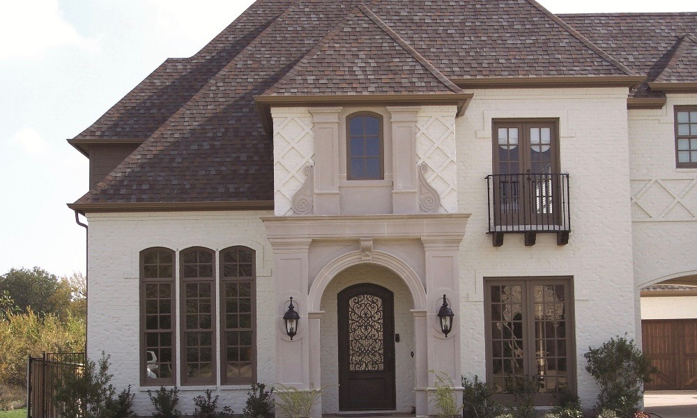 Home Elevation Design using Catalog Products | Manufactured Stone Panels for Monolithic Design Accent