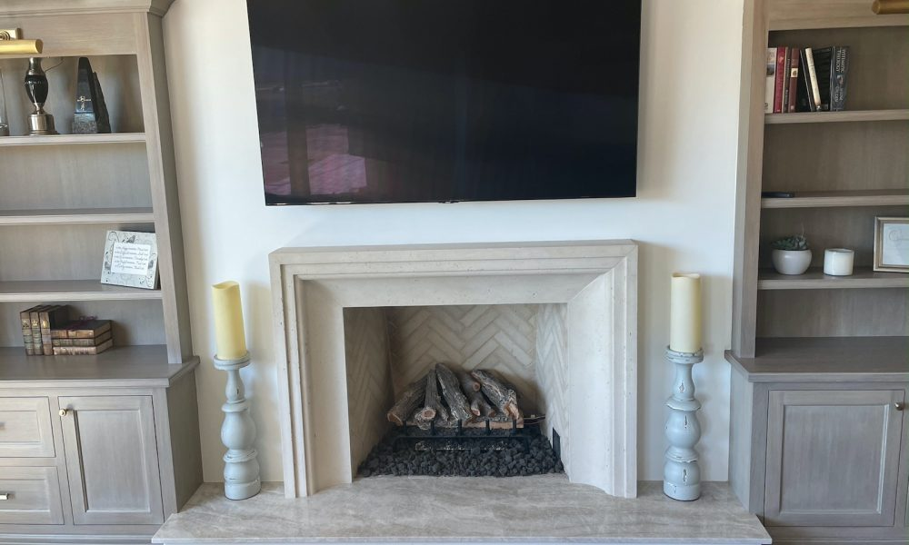 Fireplace Integrated with Custom Home Design