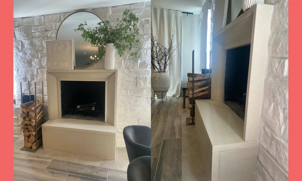 Interior Fireplace Integral to the Design Theme